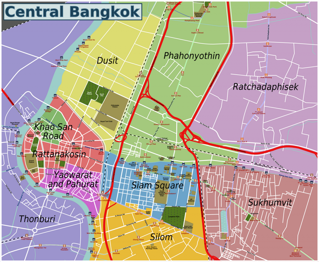 Bangkok regions