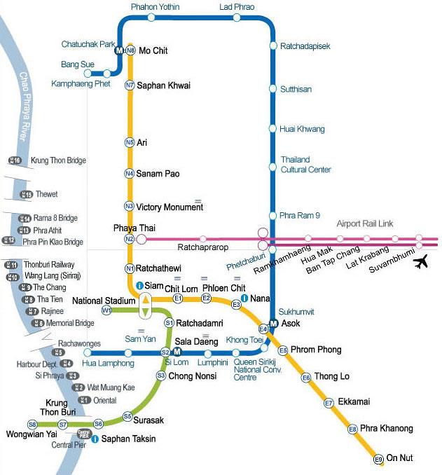 Harta transportului în comun.